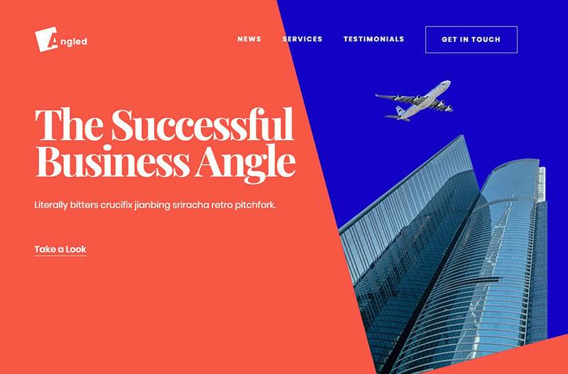 Angled Business Website