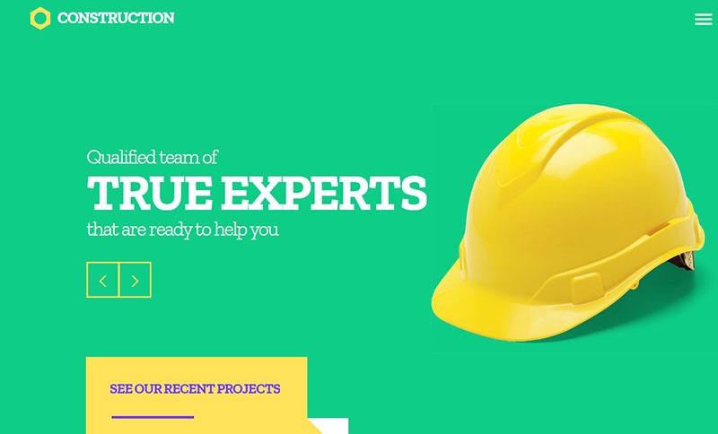 Construction Company Website Template