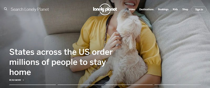 Lonely Planet Homepage Gallery
