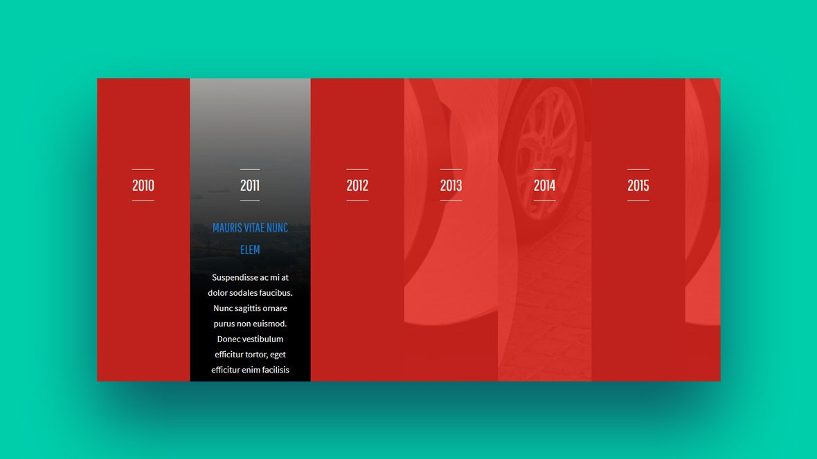 HTML and CSS timeline