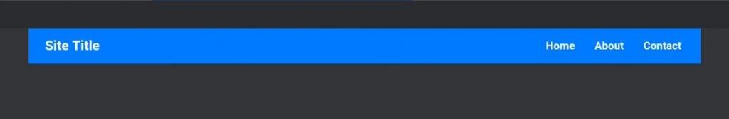Horizontal menu at desktop sizes