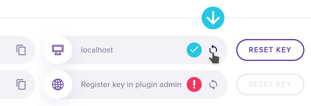 Refresh your dashboard to show the domains on which keys are used