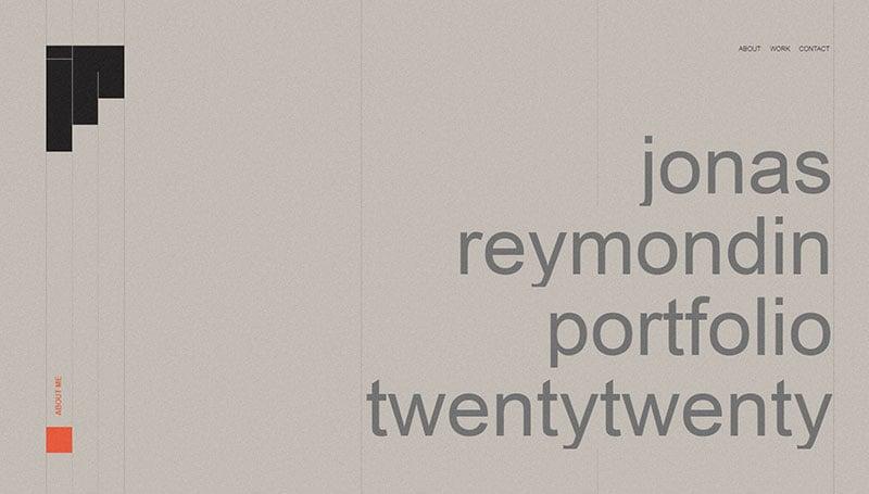 Jonas Reymondin - Portfolio'20