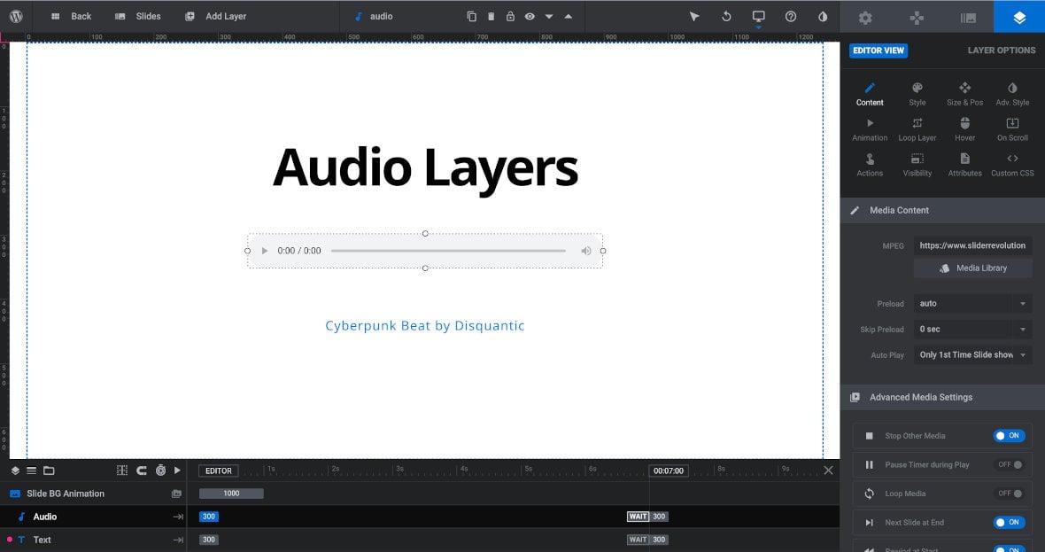 Audio layer