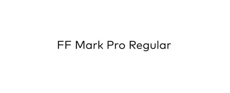 FF mark pro regular