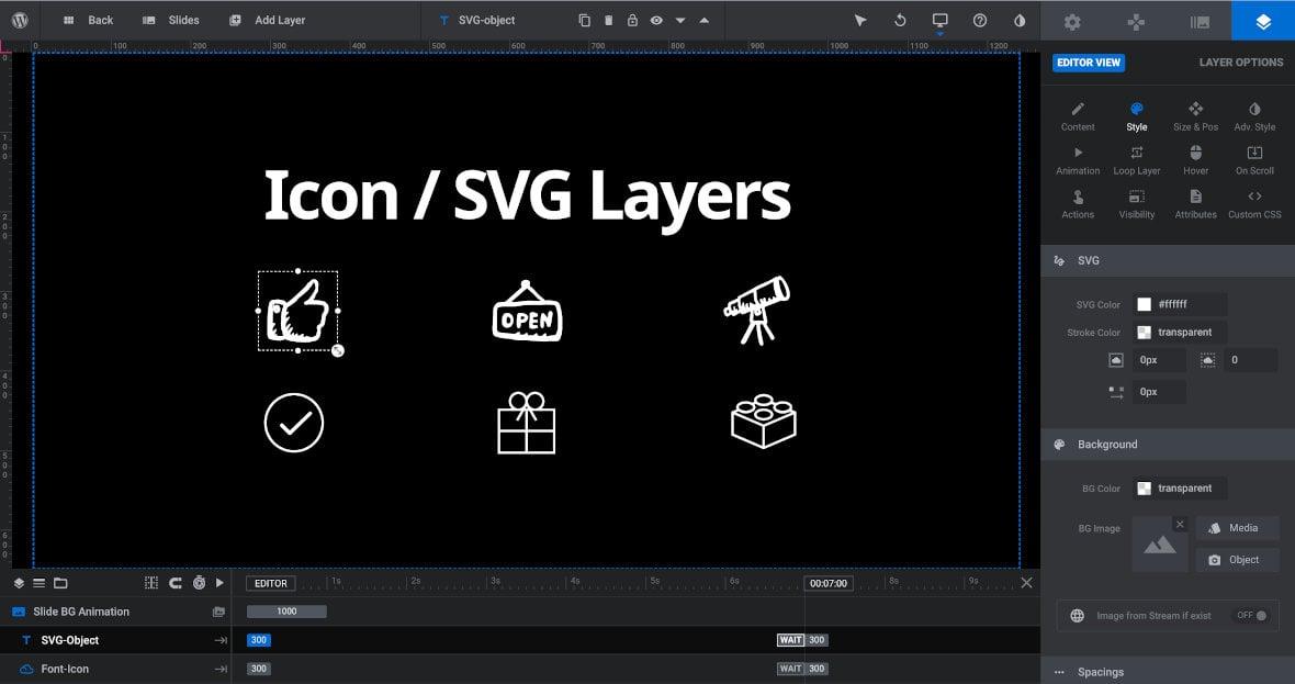 Icon / SVG Layer