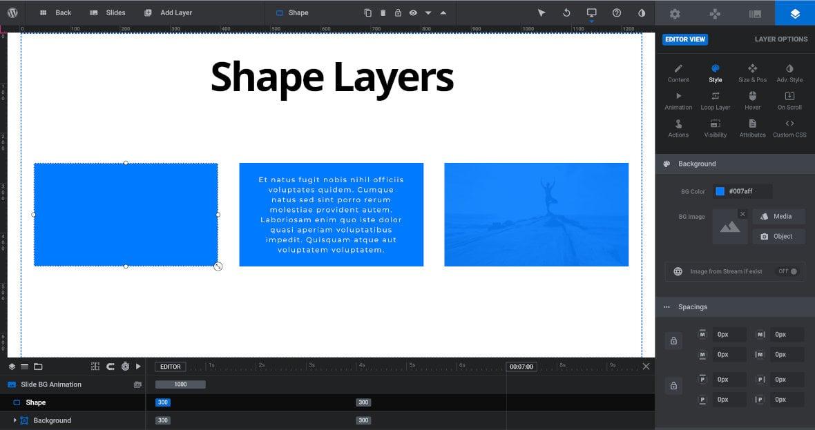 Shape layer