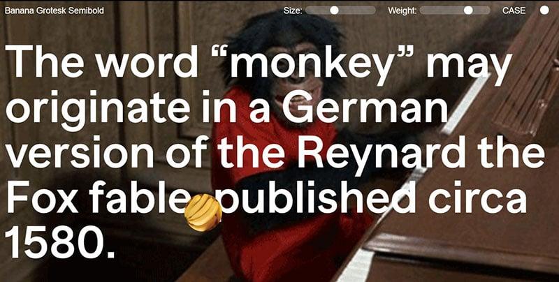 Banana grotesk